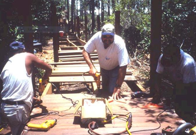 Ed Carlson working on boardwalk