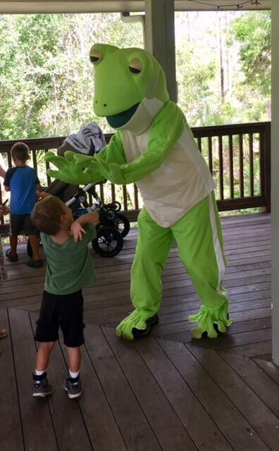 Green Tree Frog Mascot